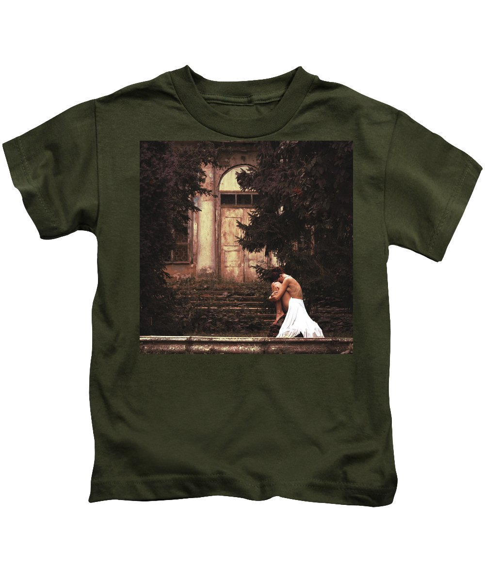Nude Kids T-Shirt featuring the photograph Fallen Angel by Anri Croizet