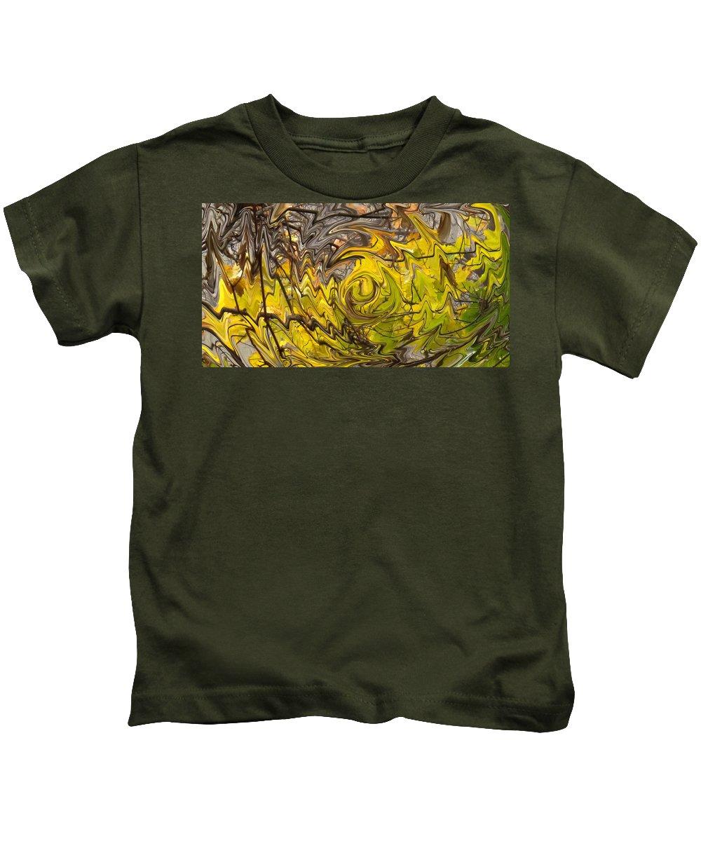 Fall Kids T-Shirt featuring the photograph Falling Leaves by Ian MacDonald