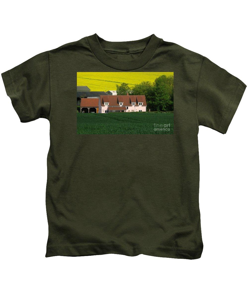 Farm Kids T-Shirt featuring the photograph Farm Fields by Ann Horn