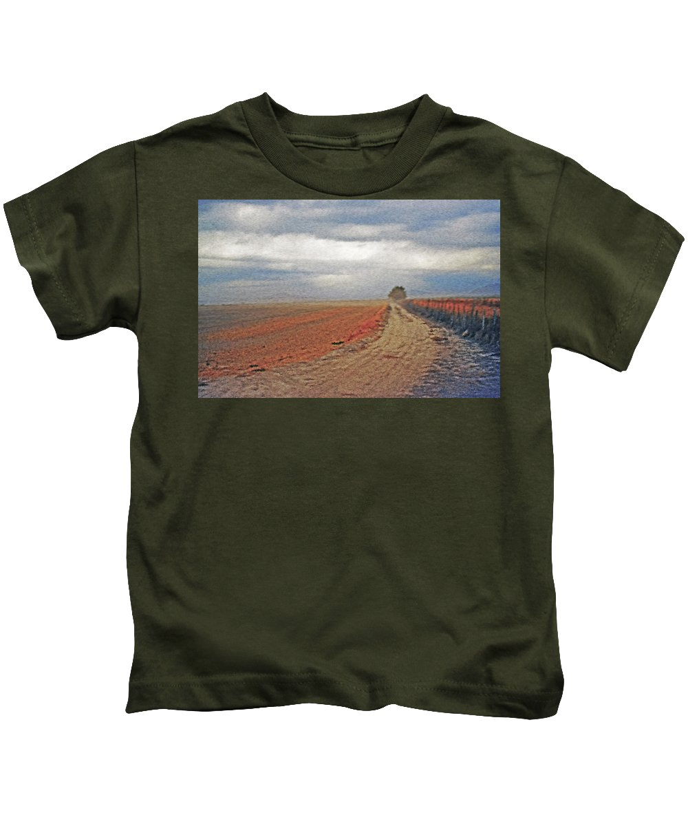 Farmland Kids T-Shirt featuring the photograph Farmland 3 by Steve Ohlsen