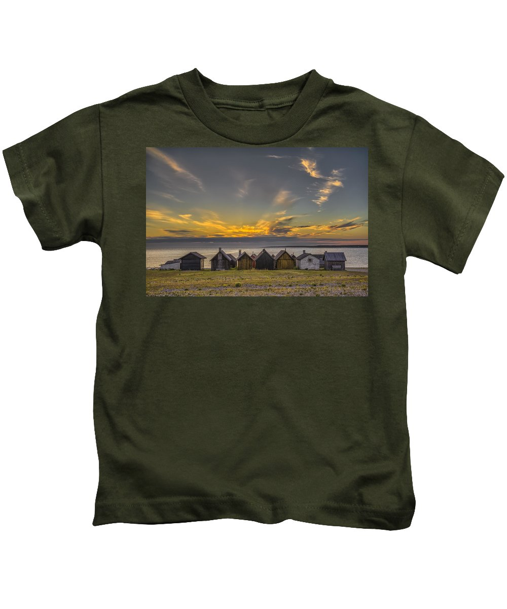 Baltic Sea Kids T-Shirt featuring the photograph Faroe, Gotland, Sweden by Ludwig Riml