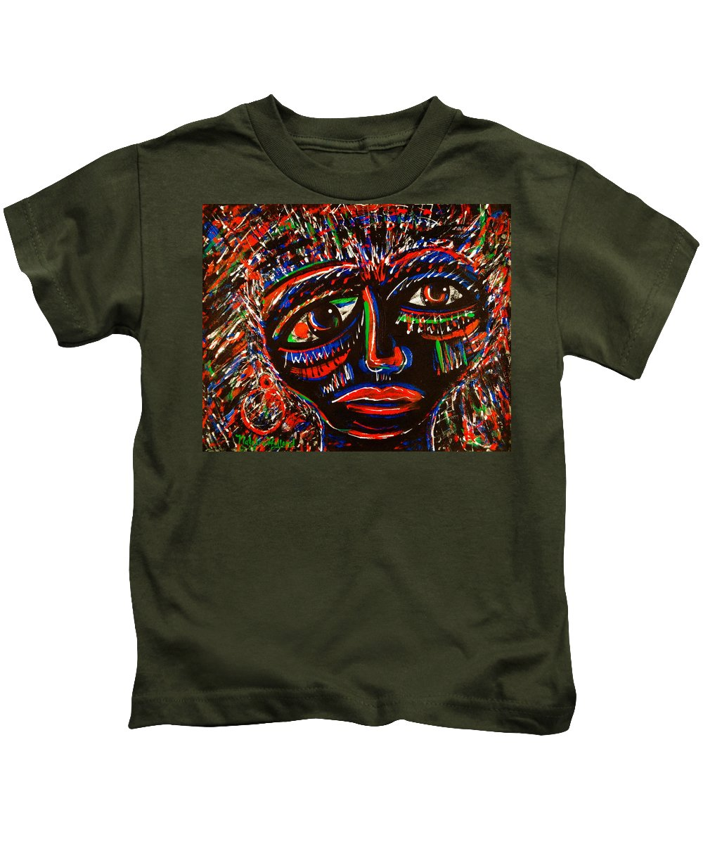 Expressionism Kids T-Shirt featuring the painting Fearless by Natalie Holland