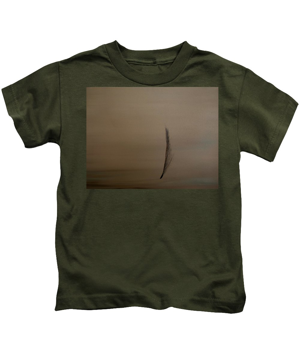 Feather Kids T-Shirt featuring the painting Feather by Jack Diamond