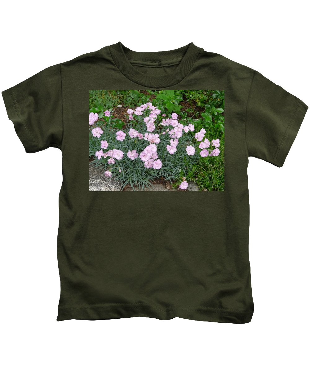 Flower Kids T-Shirt featuring the photograph Feathered Pink by Valerie Ornstein