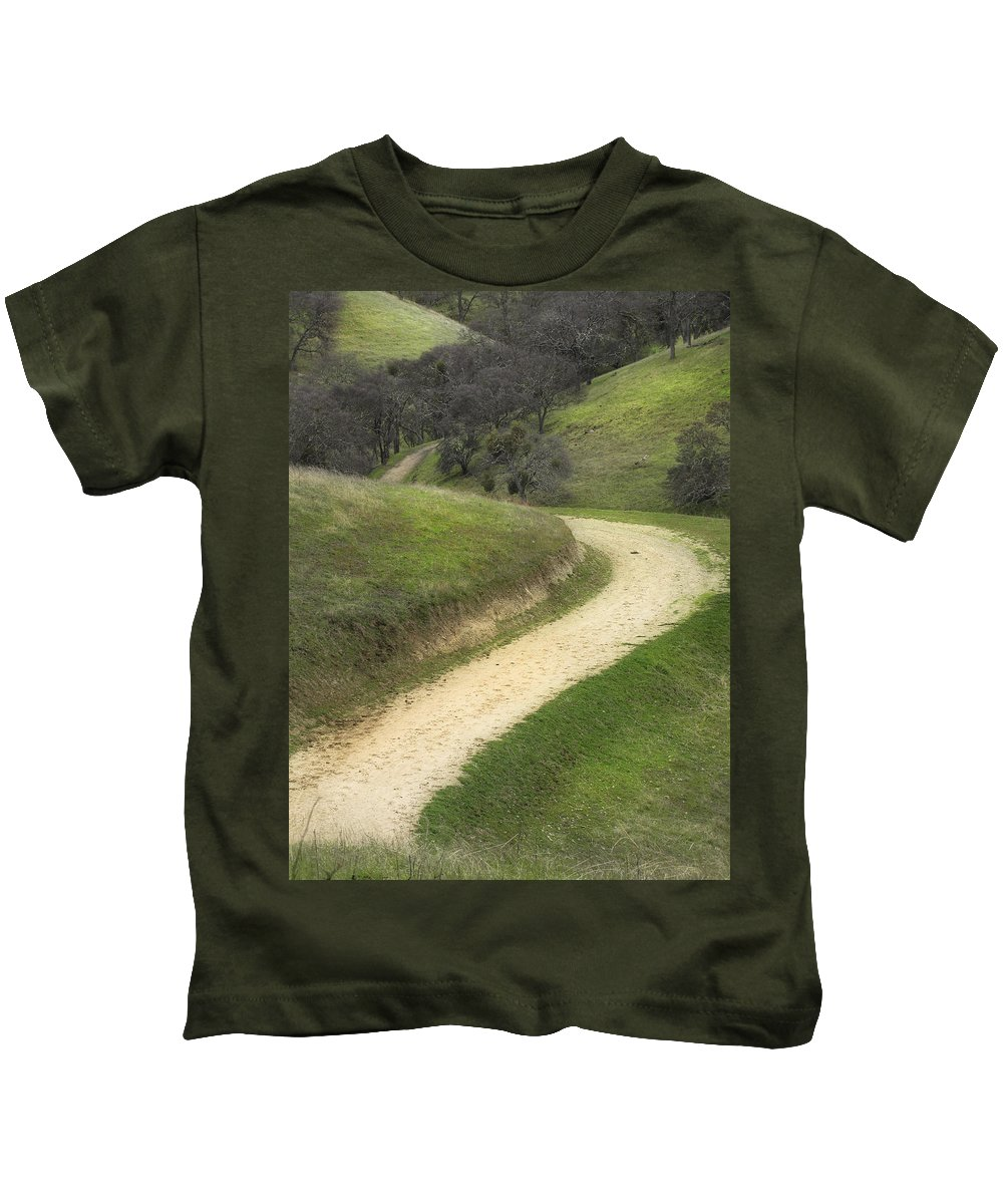 Landscape Kids T-Shirt featuring the photograph February Green by Karen W Meyer