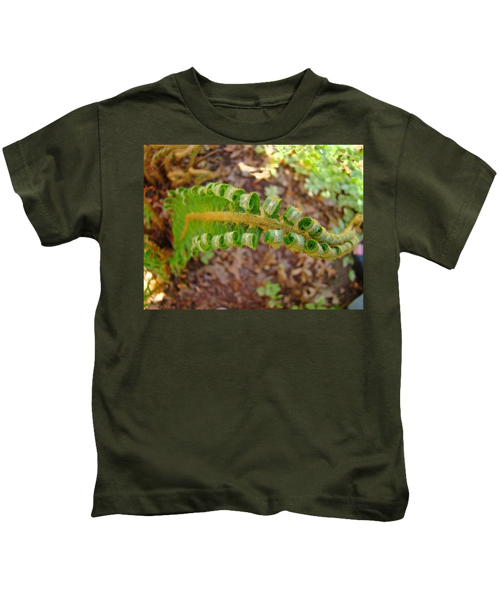 Fern Kids T-Shirt featuring the photograph Fern Branch Leaves Art Prints Forest Ferns Natures Baslee Troutman by Baslee Troutman