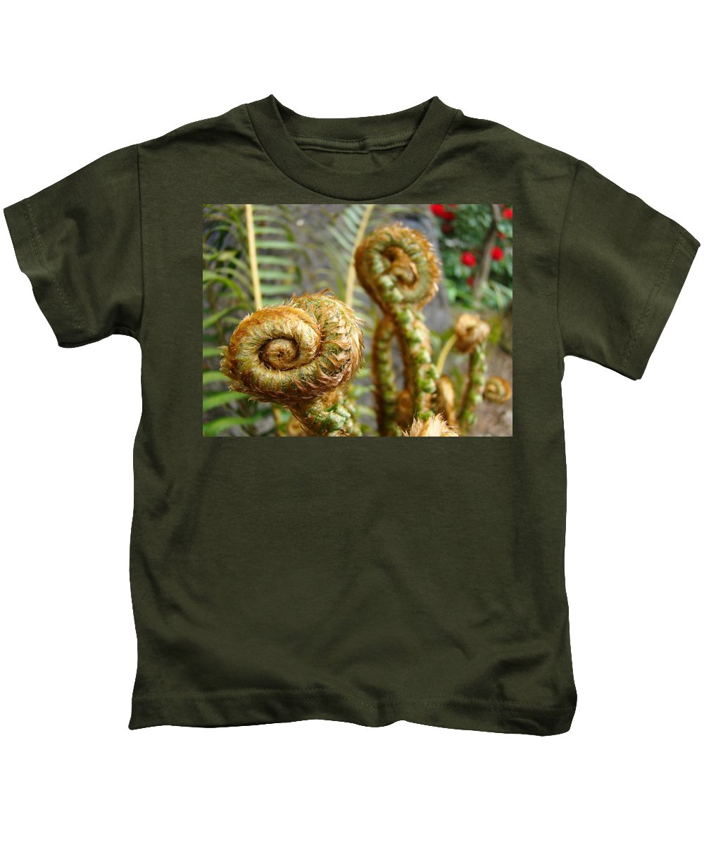 Fern Kids T-Shirt featuring the photograph Ferns Art Print Forest Fern Artwork Canvas Baslee Troutman by Baslee Troutman
