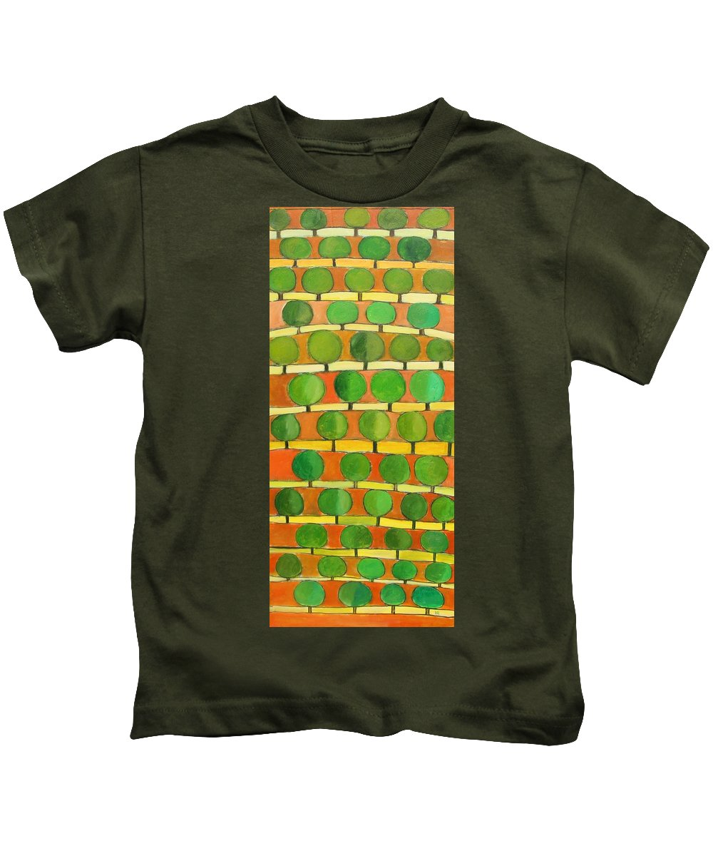 Abstract Kids T-Shirt featuring the painting Fertile Soil by Habib Ayat