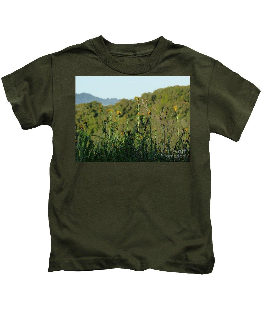 Fiddleneck Kids T-Shirt featuring the photograph Fiddleneck by Suzanne Leonard