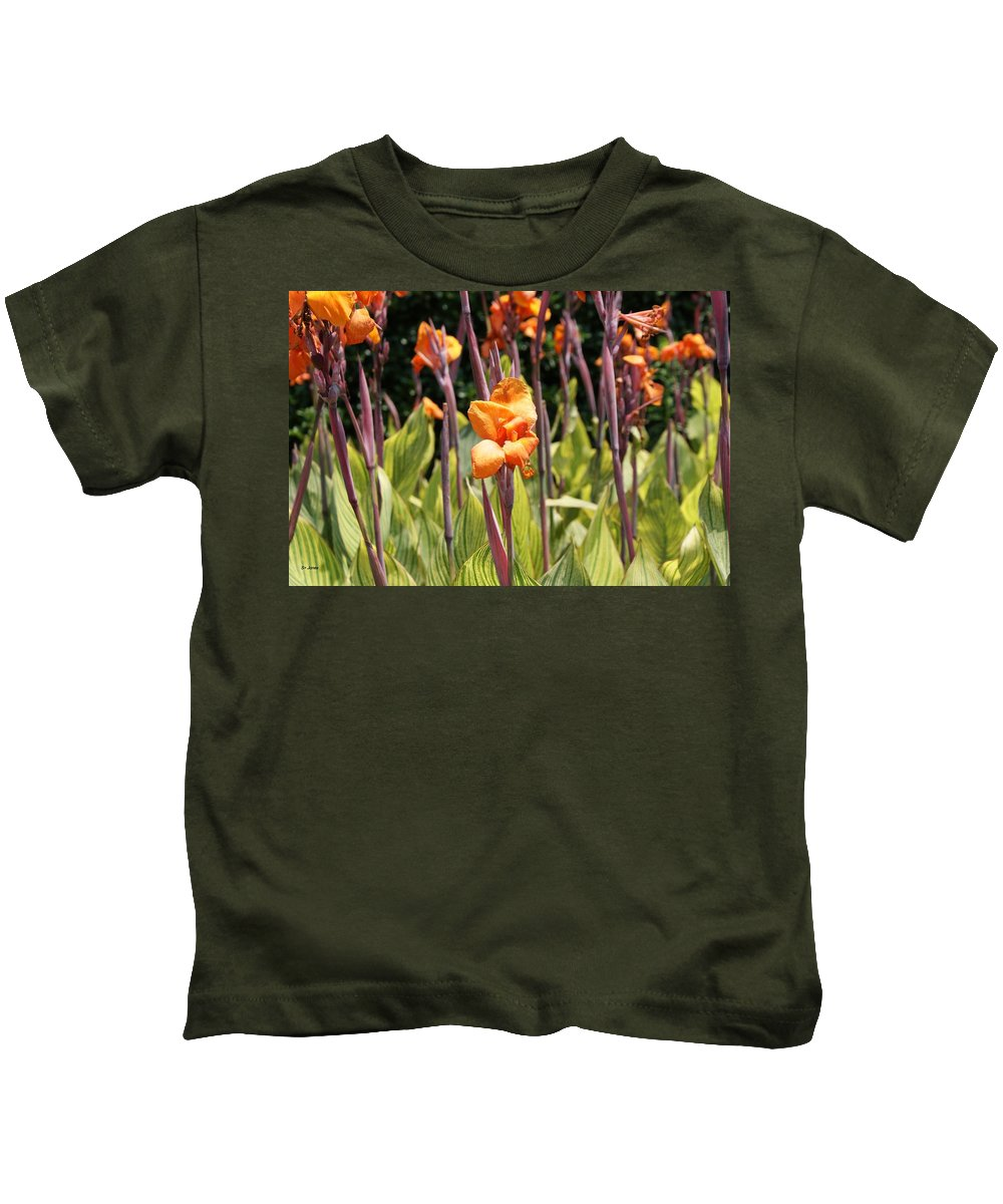 Floral Kids T-Shirt featuring the photograph Field For Iris by Shelley Jones