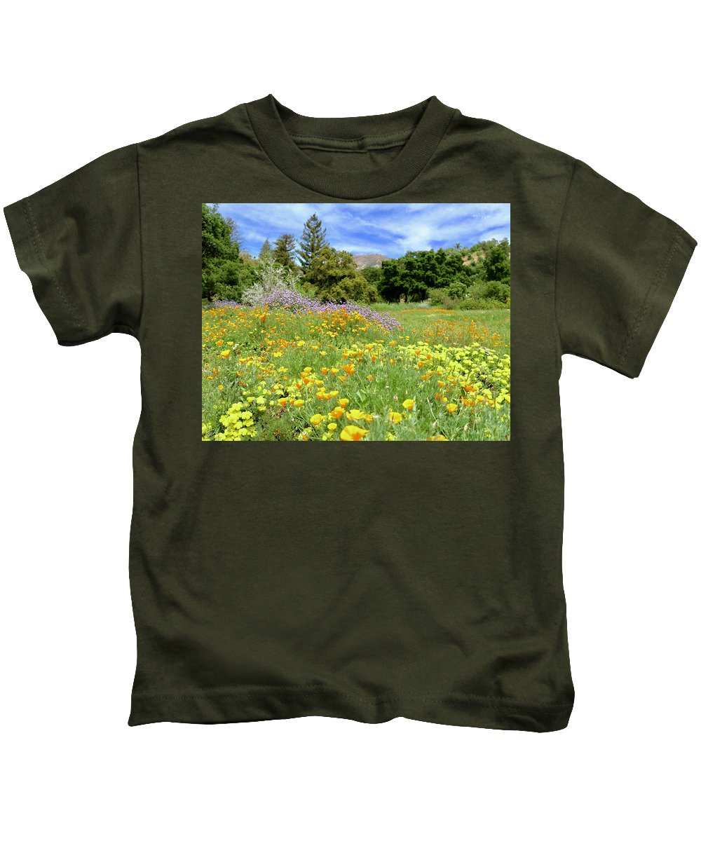Flowers Kids T-Shirt featuring the photograph Field Of Dreams by Erin Finnegan