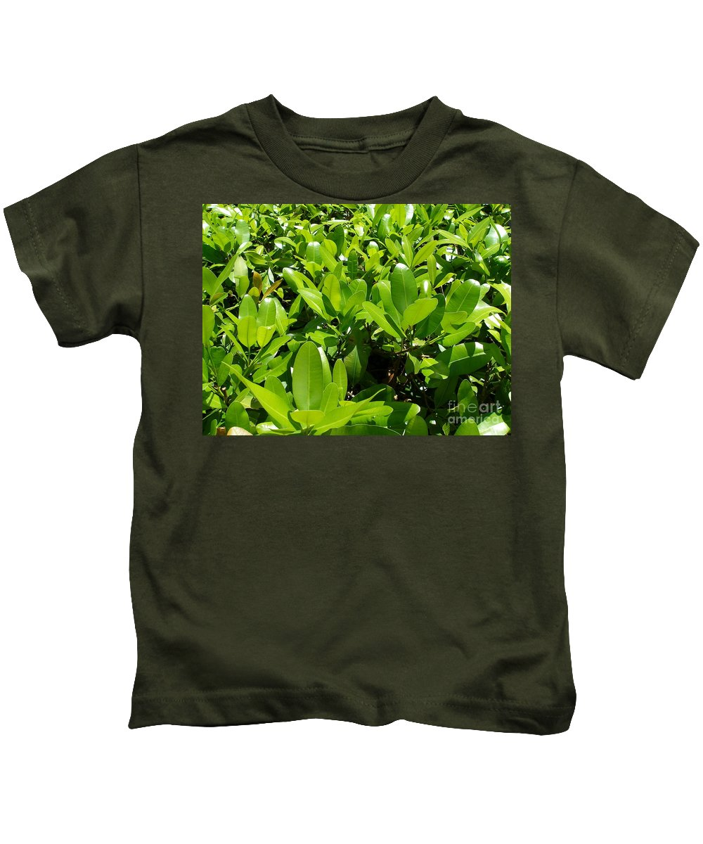 Shrub Kids T-Shirt featuring the photograph Field Of Green by Maria Bonnier-Perez
