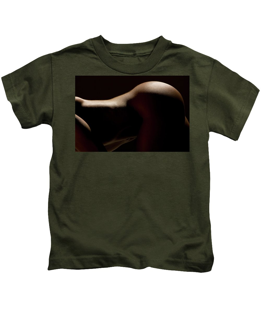 Landscape Kids T-Shirt featuring the photograph Figure Study 1 by Skyler Whitehead