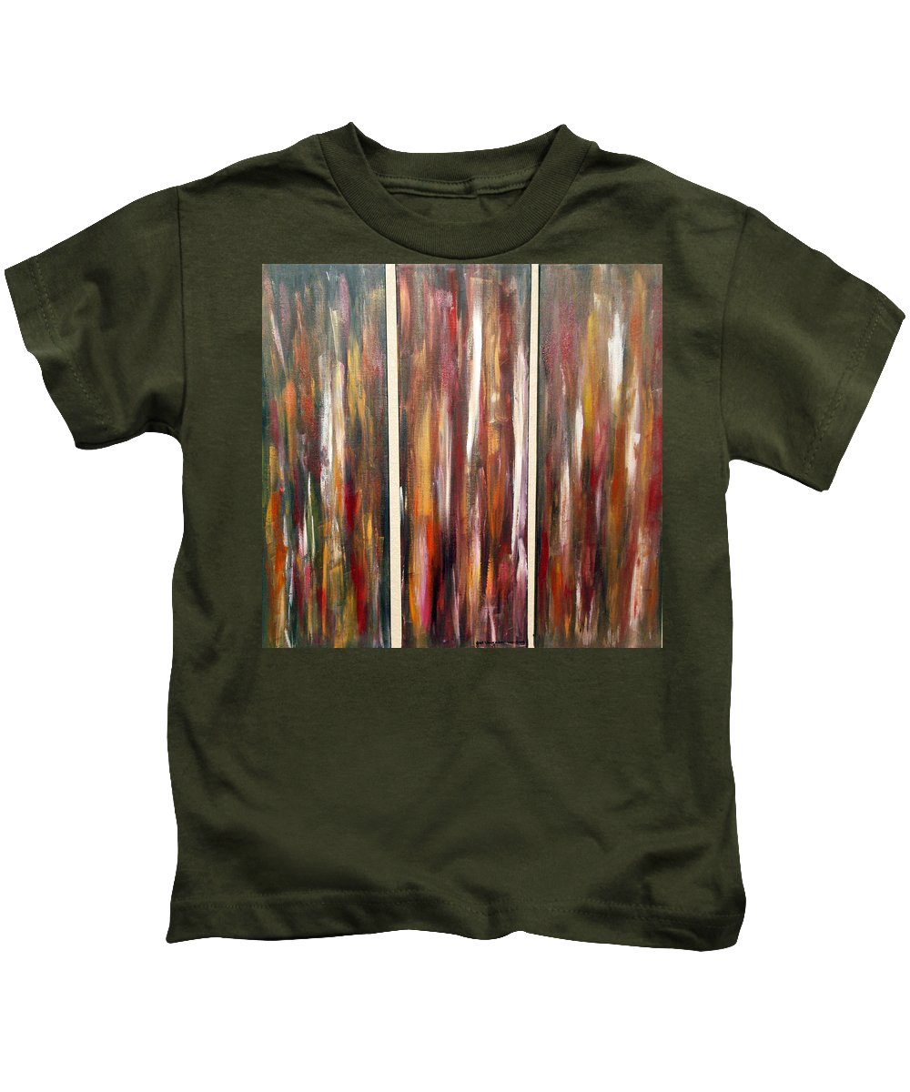 Acrylic Painting Kids T-Shirt featuring the painting Fire Of Desire by Yael VanGruber
