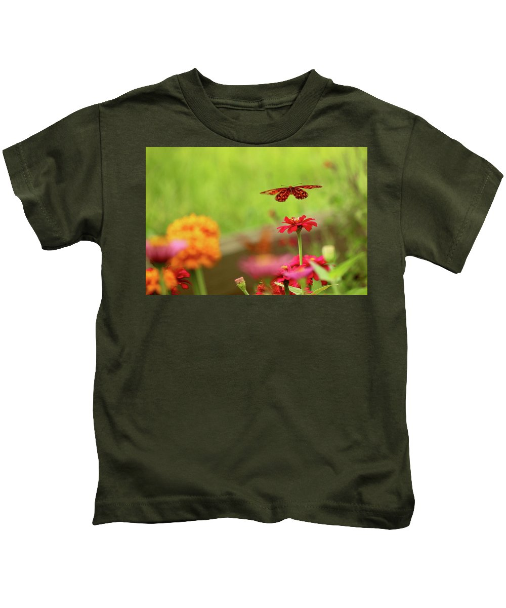 Butterfly Kids T-Shirt featuring the photograph Float Like A Butterfly by Beverly Cummiskey