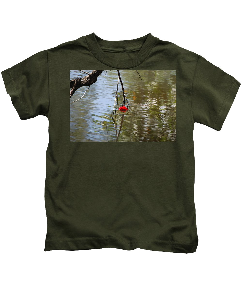 Water Kids T-Shirt featuring the photograph Floating Flower by Rob Hans