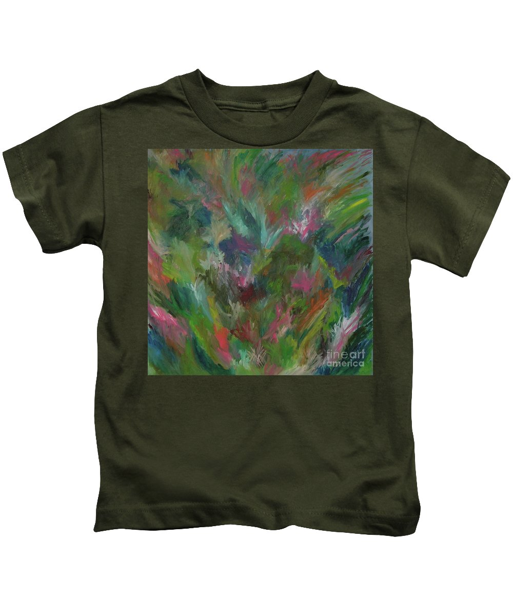 Floral Kids T-Shirt featuring the painting Floral Abstraction by Cori Solomon