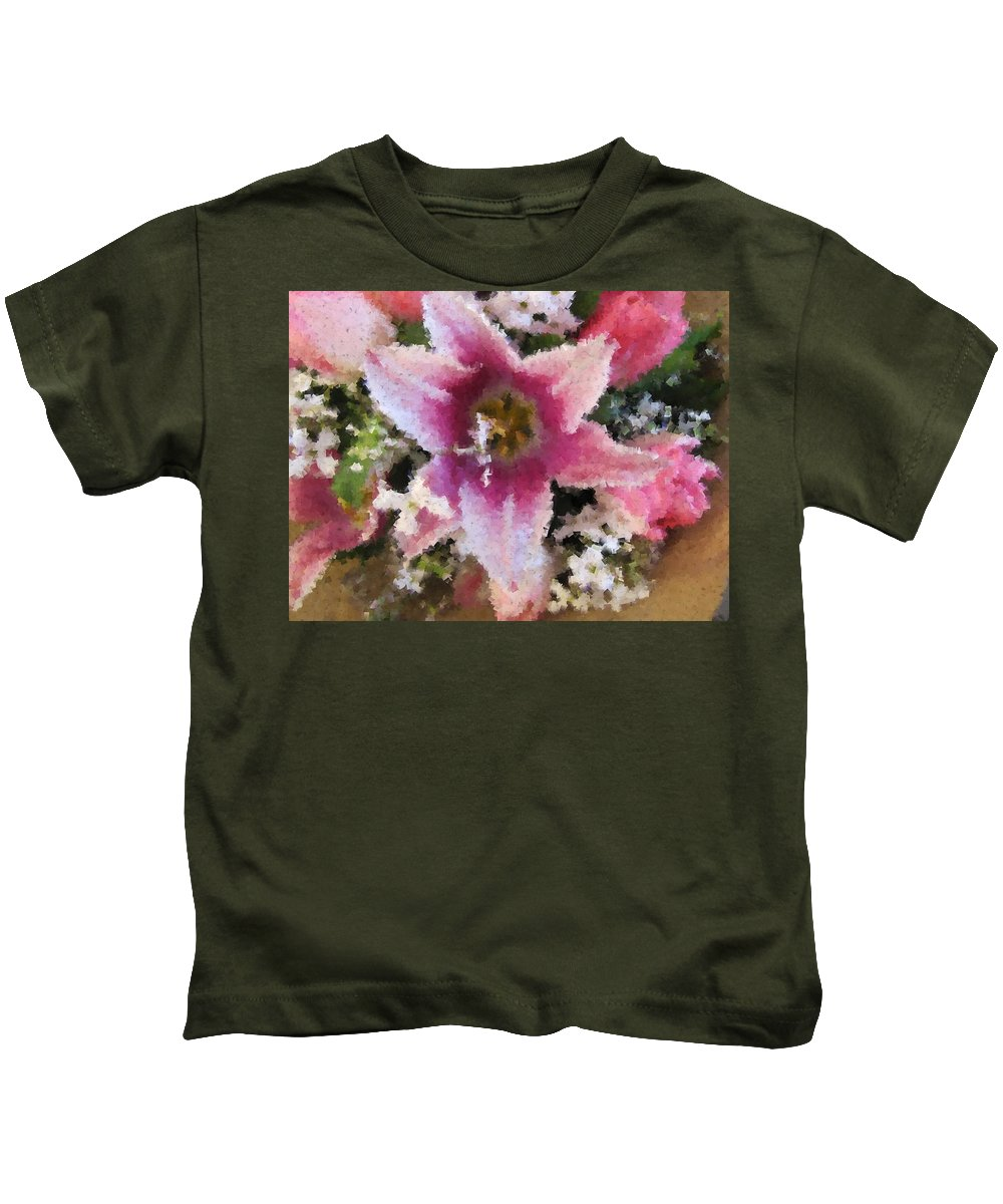 Flower Kids T-Shirt featuring the digital art Floral Beauty by Tim Allen