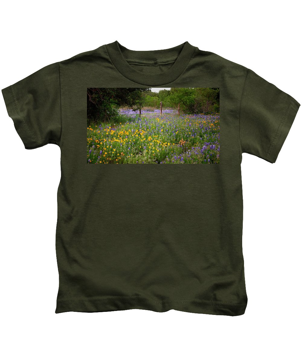 Landscape Kids T-Shirt featuring the photograph Floral Pasture No. 2 by Jon Holiday