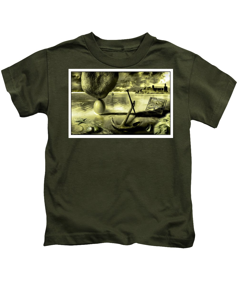 Art Kids T-Shirt featuring the photograph Flotsam And Jetsam by Mal Bray