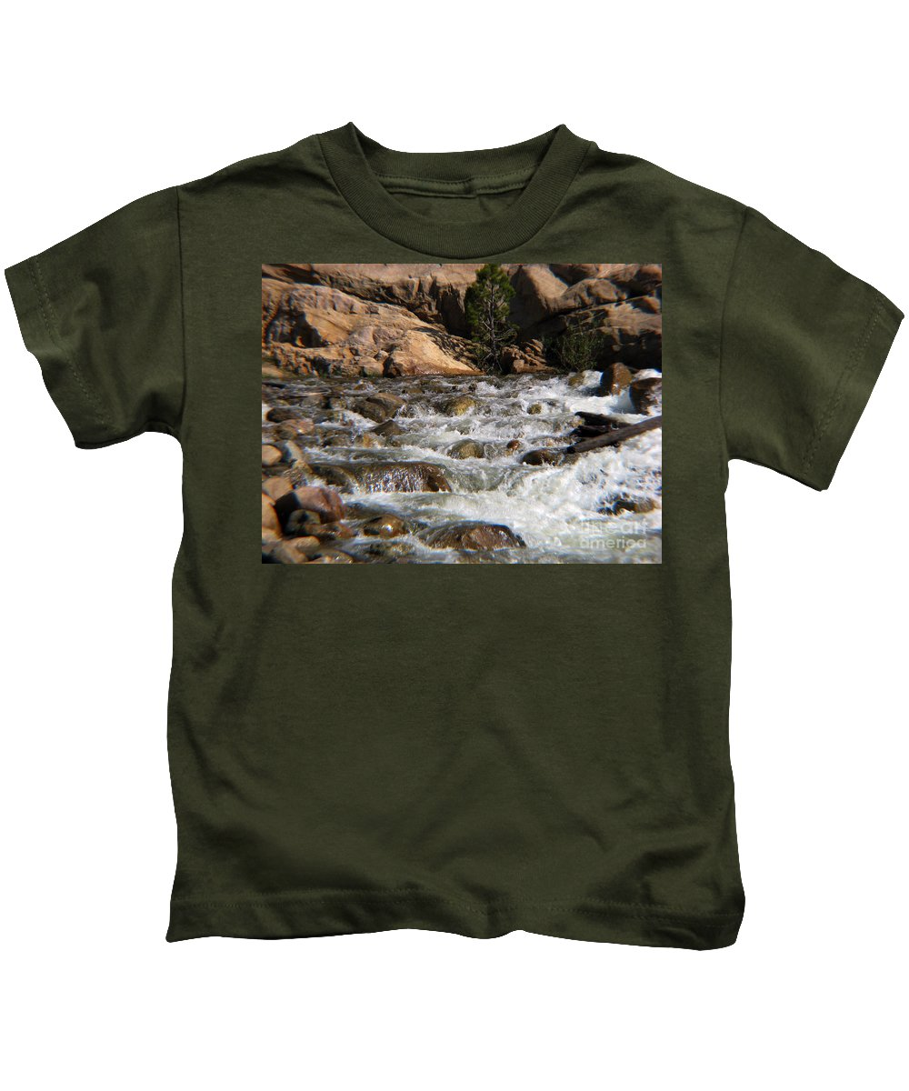 River Kids T-Shirt featuring the photograph Flow by Amanda Barcon