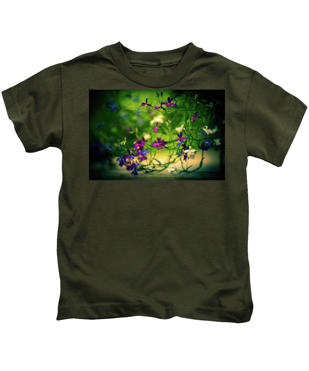 Flower Bloom Blossom Flora Garden Gardening Delicate Nature Kids T-Shirt featuring the photograph Flower by Zuska Madar
