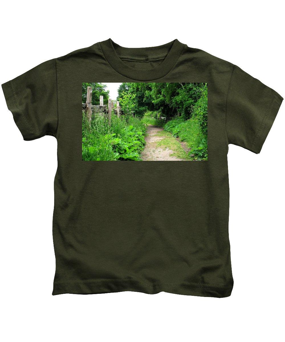 Path Kids T-Shirt featuring the photograph Follow by Ian MacDonald