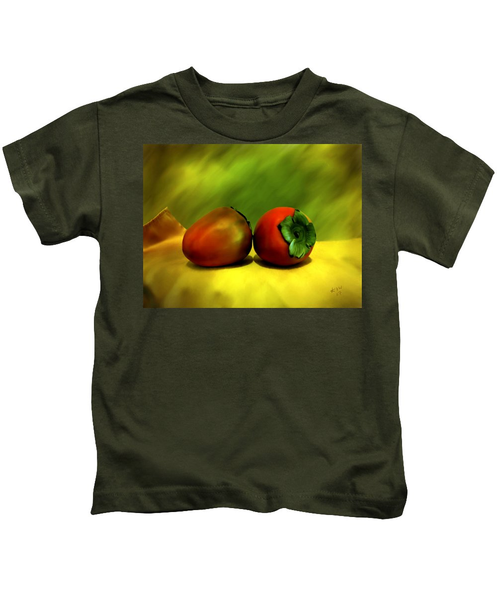 Still Life Kids T-Shirt featuring the photograph Food For The Gods by Kurt Van Wagner