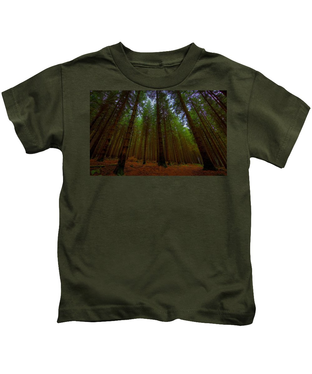 Forest Kids T-Shirt featuring the digital art Forest by Dorothy Binder