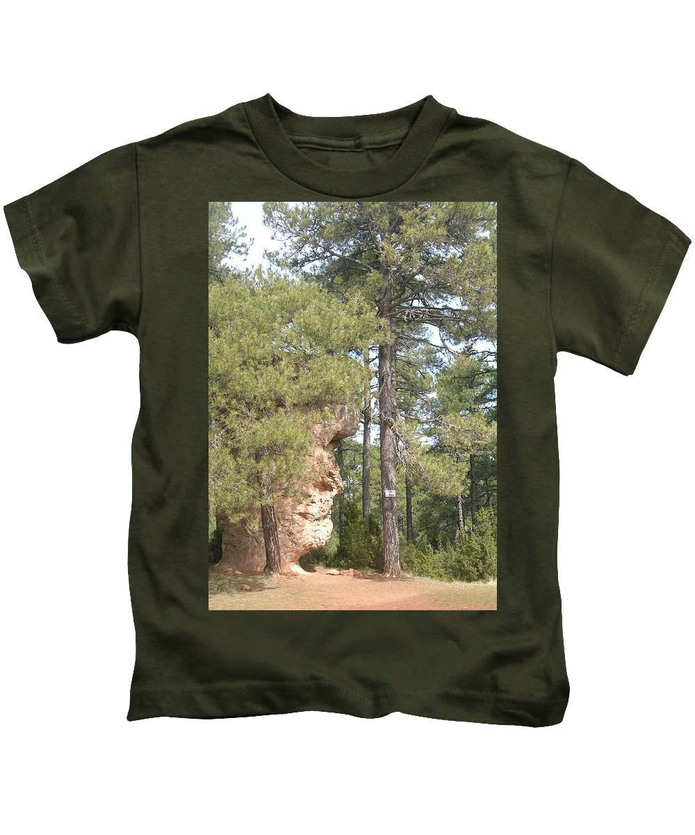 Landscape Kids T-Shirt featuring the photograph Forest Face by Valerie Ornstein