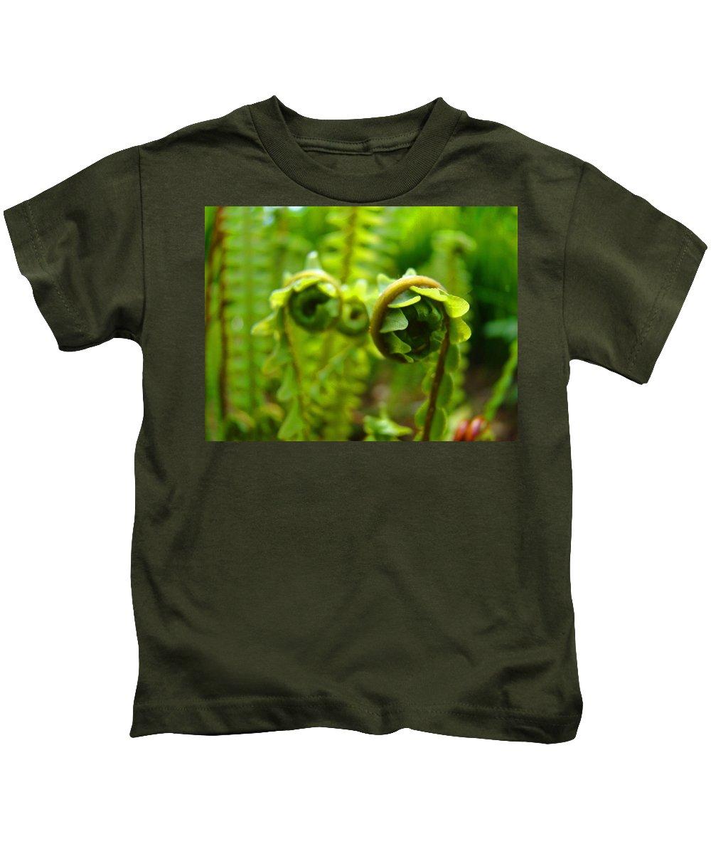 Fern Kids T-Shirt featuring the photograph Forest Ferns Fine Art Photography Art Prints Baslee Troutman by Baslee Troutman