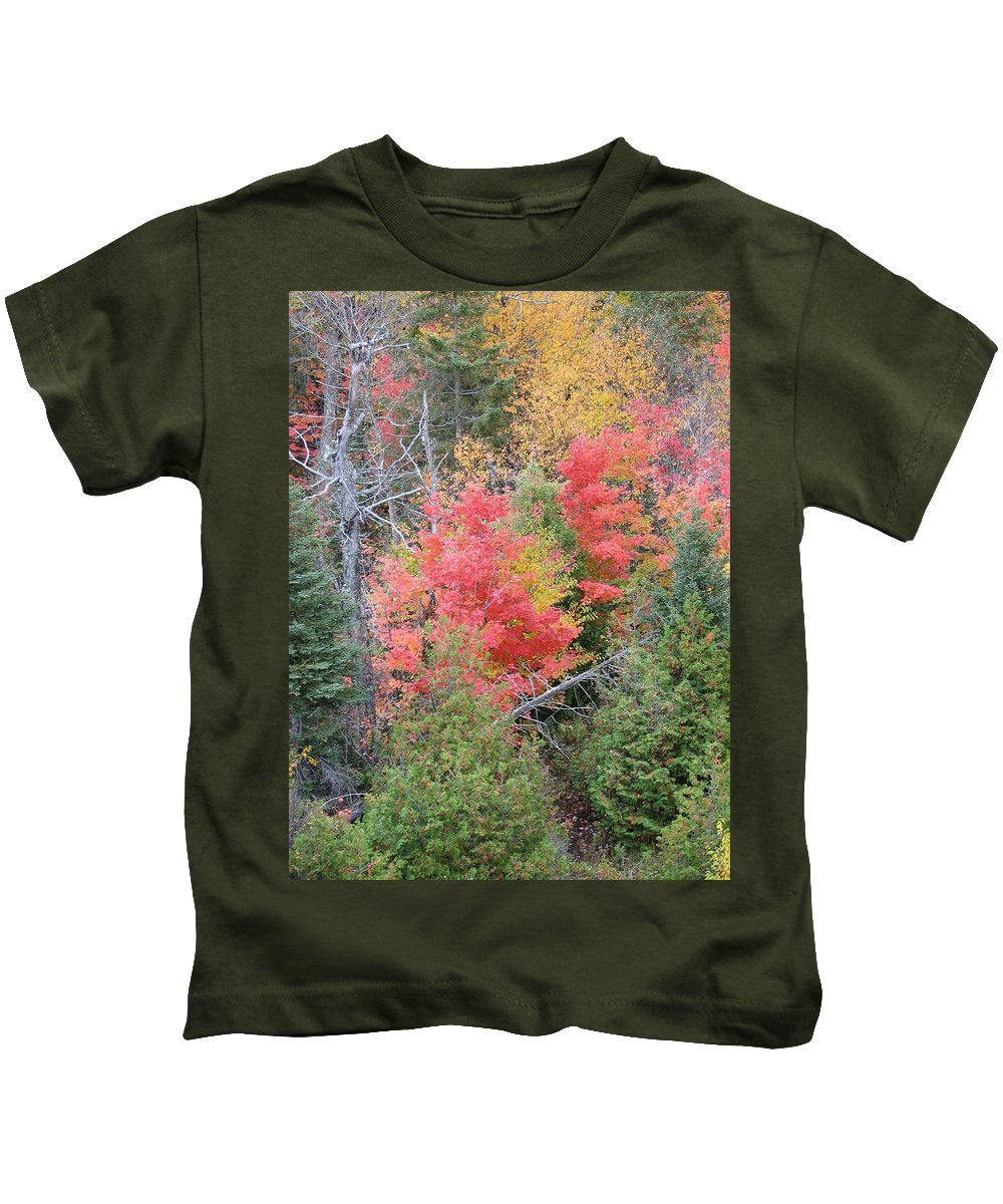 Fall Kids T-Shirt featuring the photograph Forest Fire by Kelly Mezzapelle