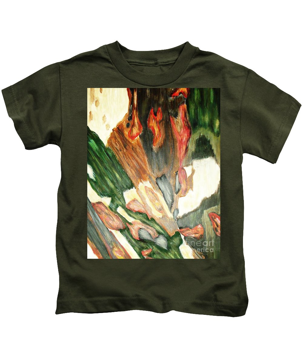 Abstract Kids T-Shirt featuring the painting Forest by Yael VanGruber