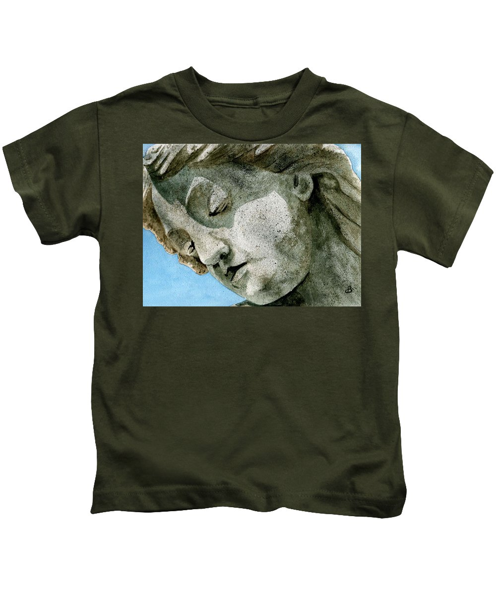 Woman Kids T-Shirt featuring the painting Forever Yours by Brenda Owen