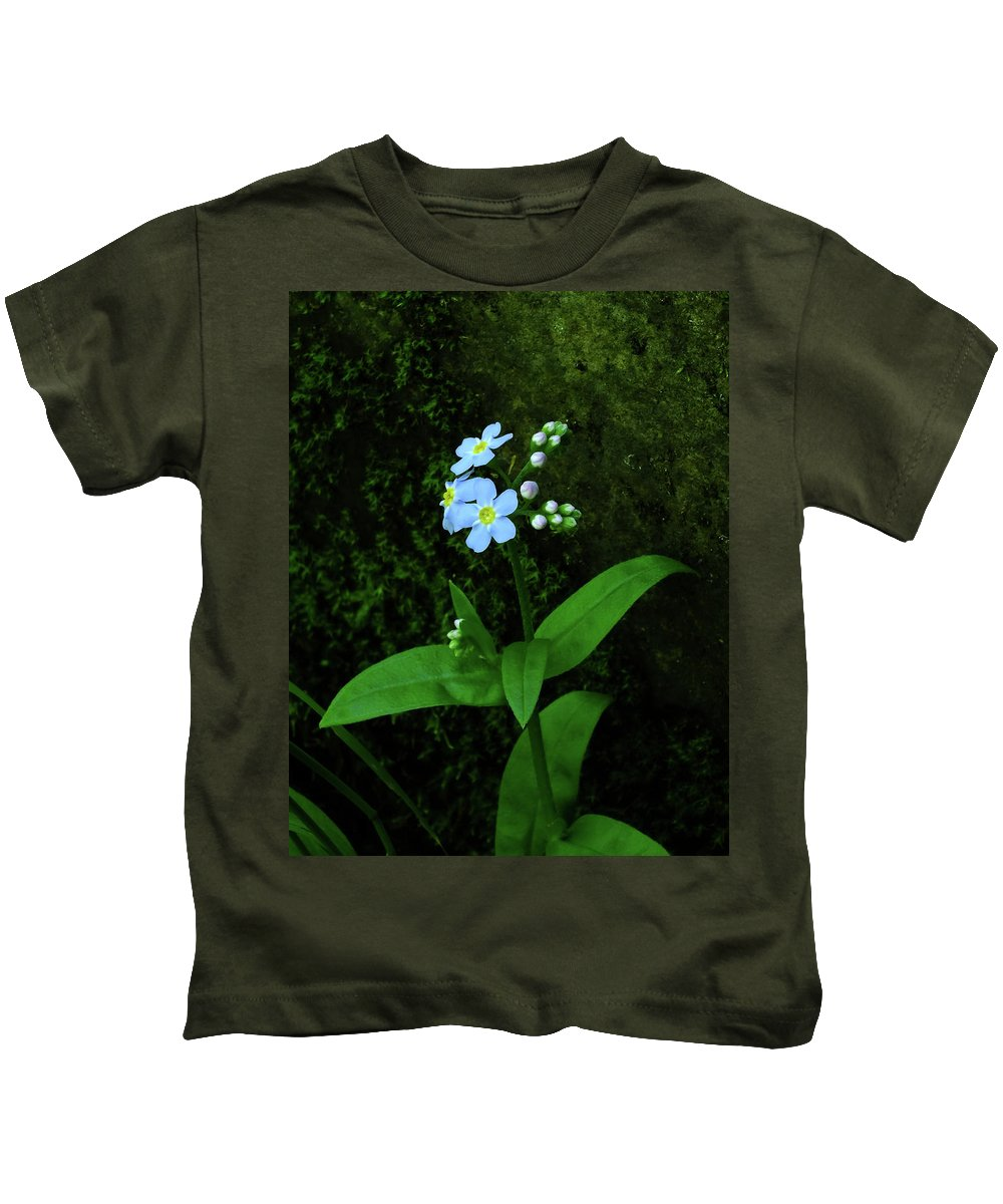Flowers Kids T-Shirt featuring the photograph Forget-me-not by Bill Morgenstern