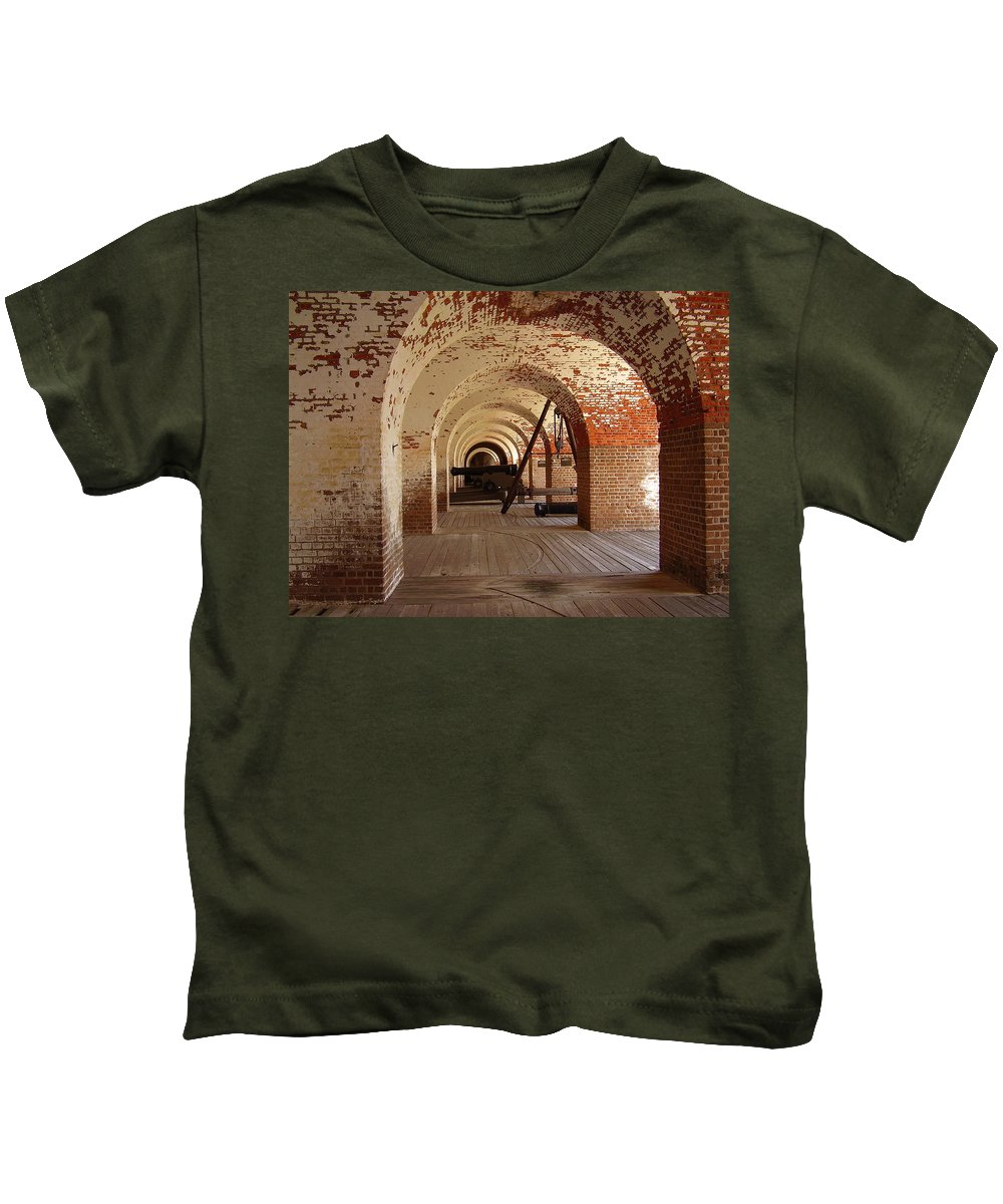 Fort Pulaski Kids T-Shirt featuring the photograph Fort Pulaski II by Flavia Westerwelle