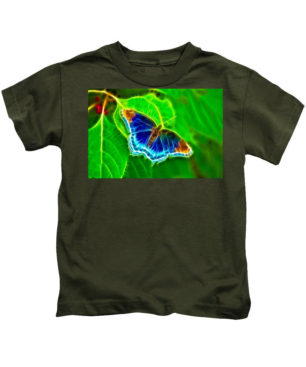Butterfly Kids T-Shirt featuring the photograph Fractal Butterfly by Rich Leighton