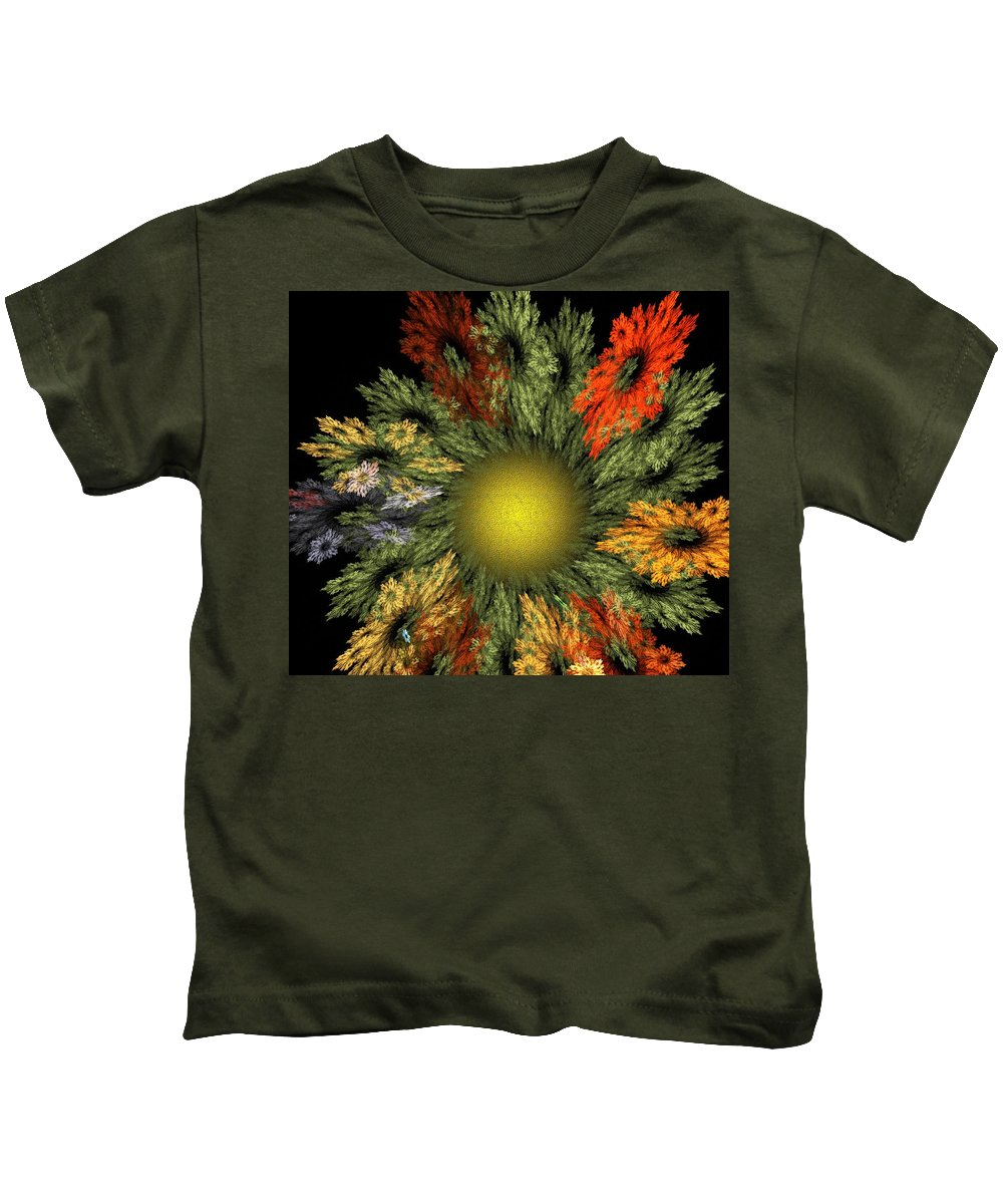 Fantasy Kids T-Shirt featuring the digital art Fractal Floral 12-05-09 by David Lane