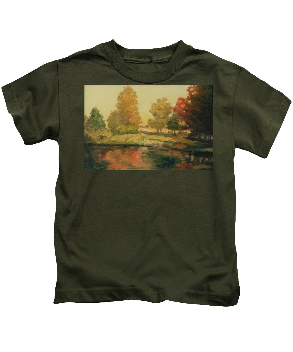 Trees Kids T-Shirt featuring the painting France I by Rick Nederlof