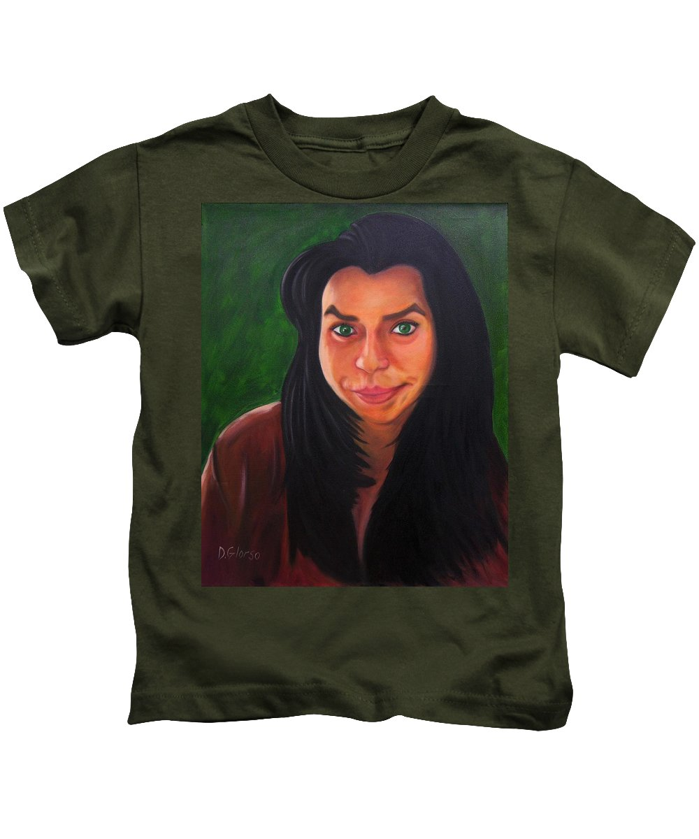 Glorso Kids T-Shirt featuring the painting Frances by Dean Glorso