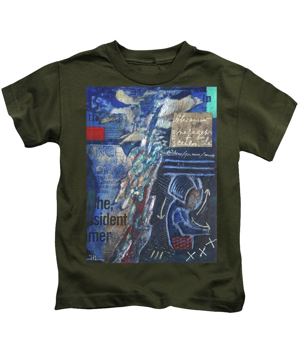Painting Kids T-Shirt featuring the painting Frazia by Jean-luc Lacroix