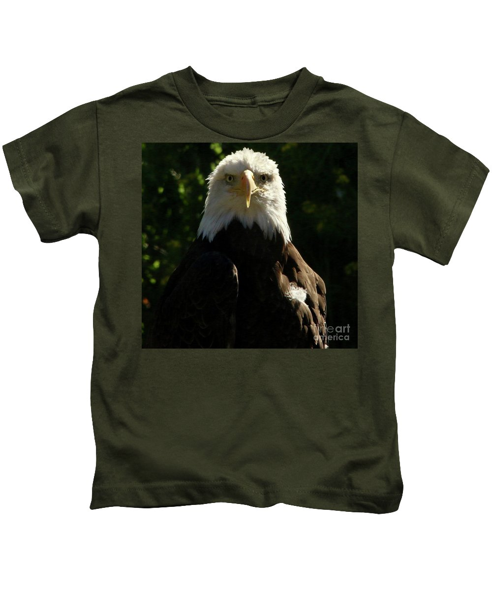 Eagle Kids T-Shirt featuring the photograph Freedom by Amanda Martin