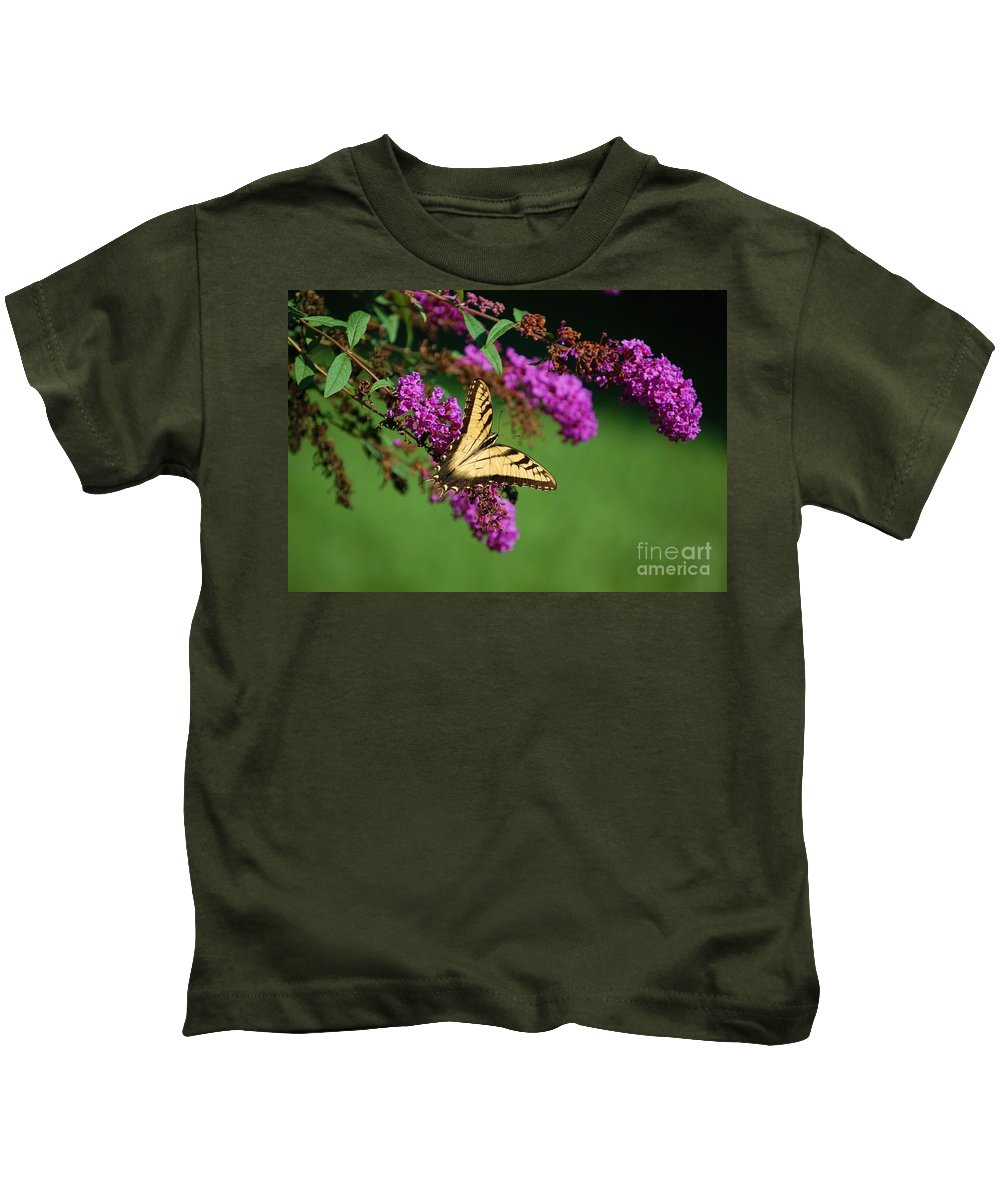 Butterfly Kids T-Shirt featuring the photograph Freedom by Debbi Granruth