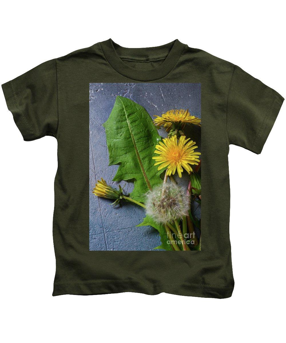 Dandelion Kids T-Shirt featuring the photograph Dandelions by Anastasy Yarmolovich