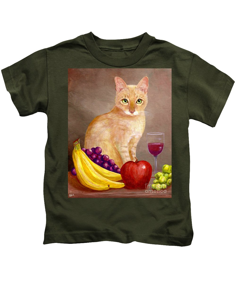 Cat Kids T-Shirt featuring the painting Fruit Of The Spirit by Lisa Adams