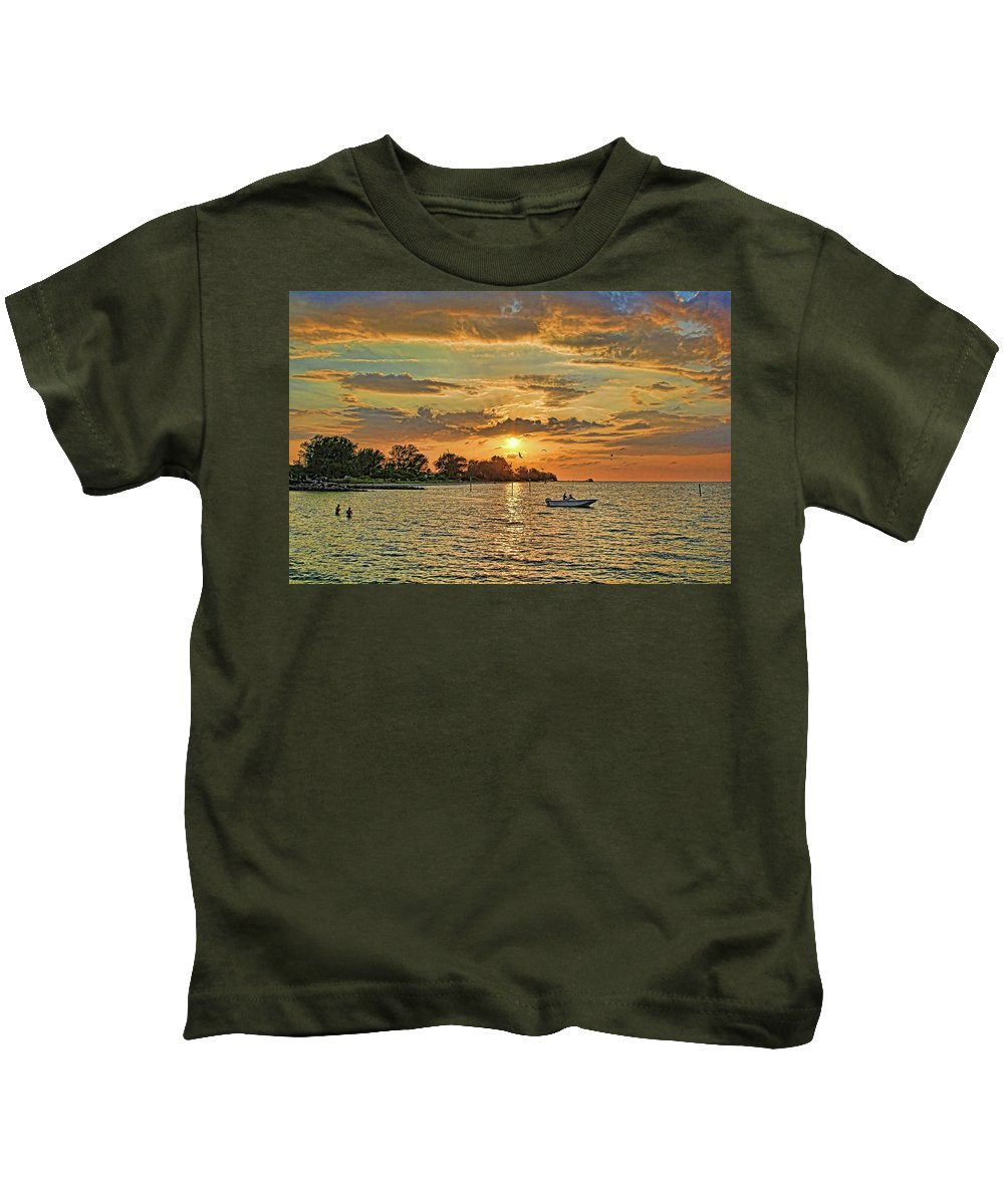 Water Sports Kids T-Shirt featuring the photograph Fun In The Florida Sun by HH Photography of Florida