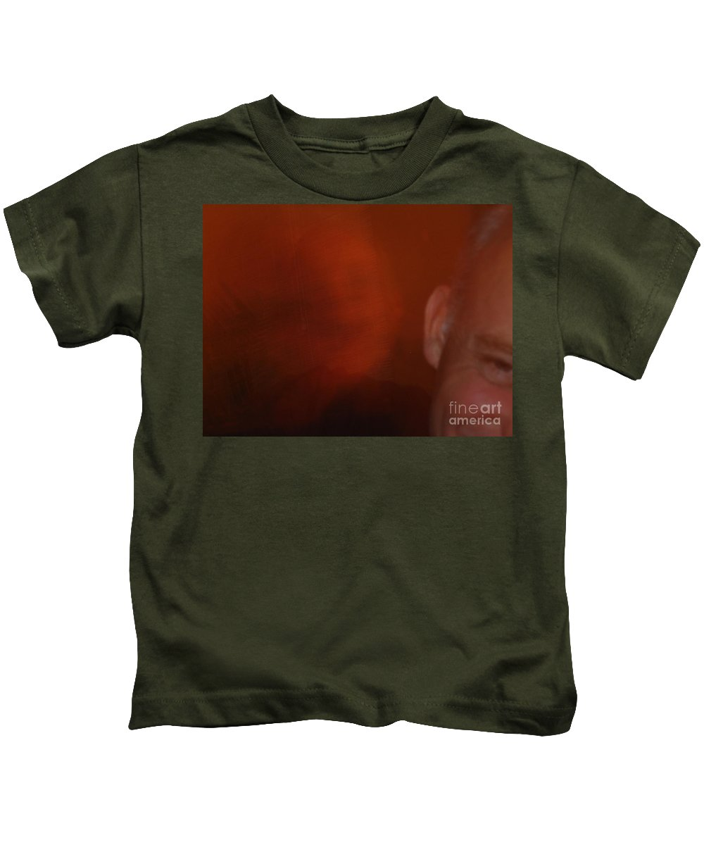 Richard T Pranke Artist Kids T-Shirt featuring the photograph Funny Life by Line Gagne