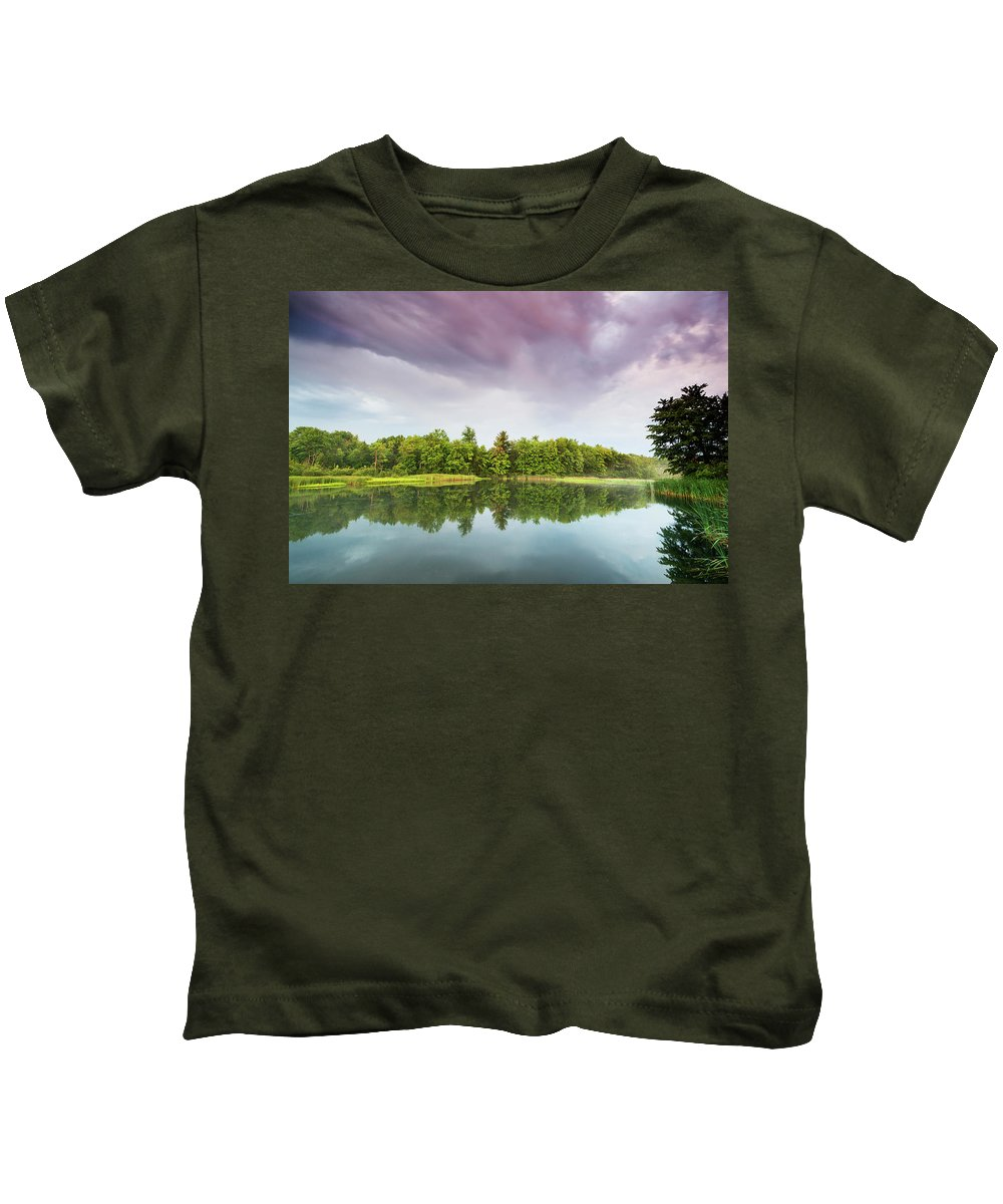 Lake Kids T-Shirt featuring the photograph Gale's Pond Early In The Morning by Kevin Kludy