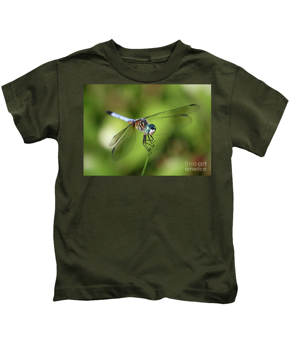 Dragonfly Kids T-Shirt featuring the photograph Garden Dragonfly by Carol Groenen