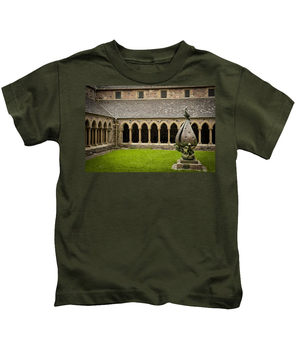 Scotland Kids T-Shirt featuring the photograph Garden Of Iona Abbey2 by Laurence Ventress